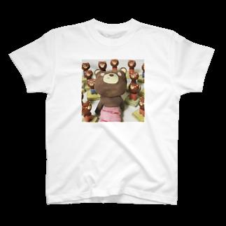 maroco's roomのくまっぺ大小 T-shirts