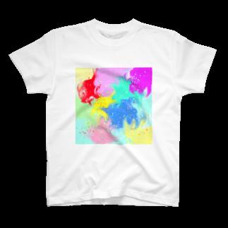まめ@ゆるふわおもろ発見隊のしぶきっき T-shirts