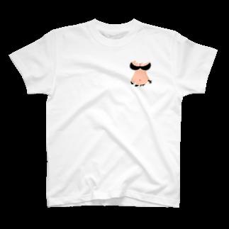 りおたのさりげないおっぱいTシャツ(黒) T-shirts