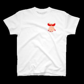 りおたのさりげないおっぱいTシャツ(赤) T-shirts