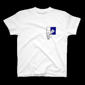 ねこりんストアのおのぞきマウス ワンポイント T-shirts