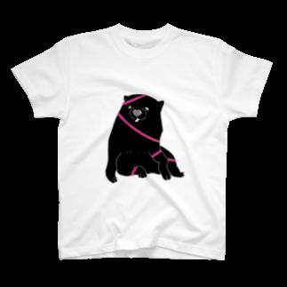 mugioのあの犬/ジュワッとピンク T-shirts