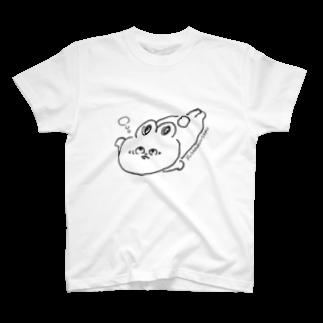srisriyuriのフサアンコウの真似をするうさこちゃん T-shirts