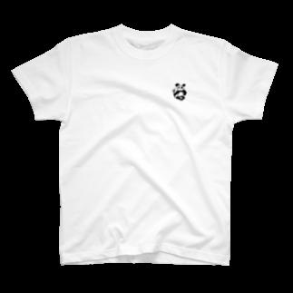 見ないで書く絵のパンダ T-shirts