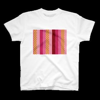 orange_honeyのストライプと水玉 4 T-shirts