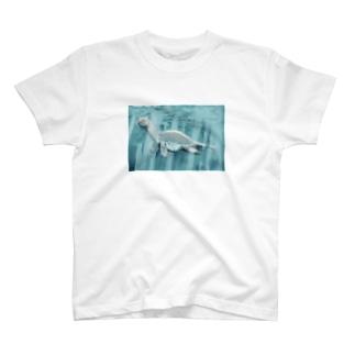 猫耳恐竜 T-shirts