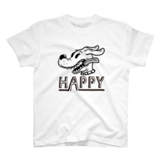 happy dog (black ink) T-Shirt