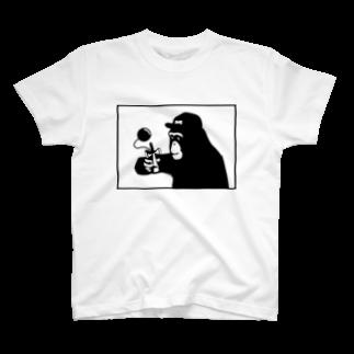 irosocagoodsのチンパンジー×けん玉 T-shirts
