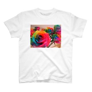 レインボーローズ T-shirts