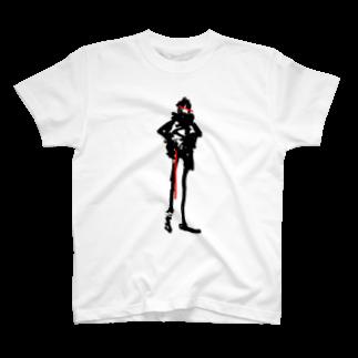 SHIDEN for SUZURIのクロアカ T-shirts