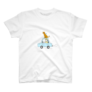 s_uppo_nのぼくと犬と車 T-shirts