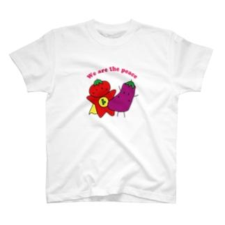 平和すぎるトマトとナス T-shirts