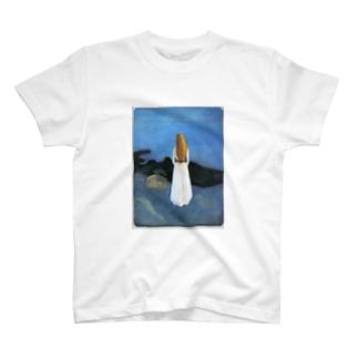 ムンク / 1896 / Young woman on the shore / Edvard Munch T-shirts
