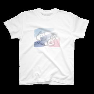 豆腐[ 'ω' ]の夏のてぐせねこ T-shirts