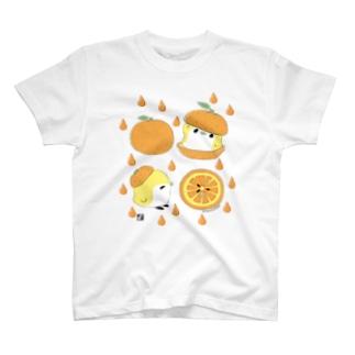 オレンジと ことり T-shirts