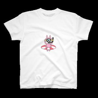 なつぽむ。の海に行く気満々うさたん T-shirts
