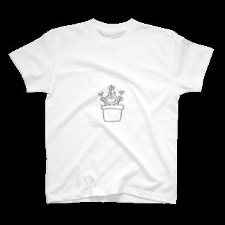 なつぽむ。のお花うさたん T-shirts