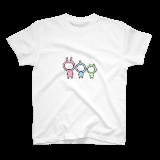 なつぽむ。の謎の3人組 T-shirts