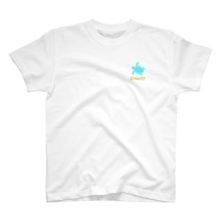 やあ!タートル(胸元) T-shirts