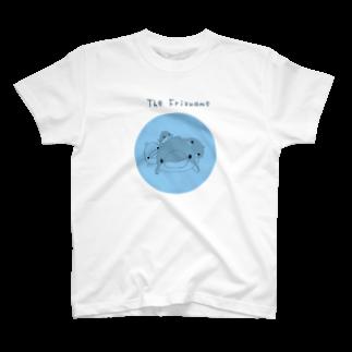 ちゅうくらいのくにの店のフリズアム一族blue T-shirts