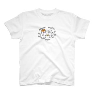 笑顔で性癖を語るハムスター×飛んじゃうアザラシ T-shirts