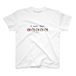 I Love Music(ましまろう戦隊) T-shirts