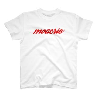 モアクリロゴ・moacrie(Red) T-shirts