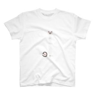 ながいねこさん:ほそい T-shirts