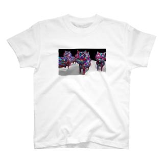 サイケデリックにゃんにゃん T-shirts