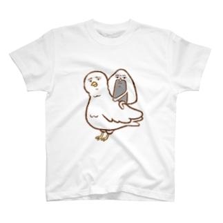 おっにぎりくんと鳥 Tシャツ T-shirts