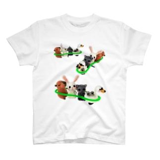 ひそひそ隊電車ごっこ3 T-shirts