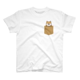 ひょっこり柴犬 T-shirts