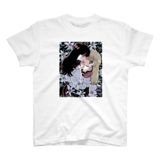 百合の花Tシャツ T-shirts