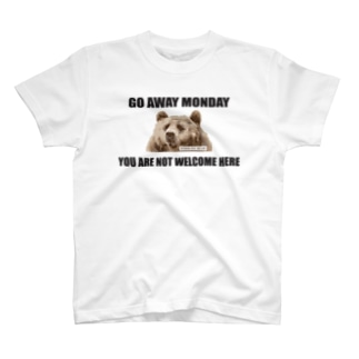 【WORKING BEAR】Fear of Monday Bear T-shirts