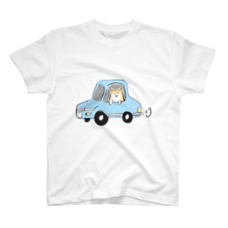 柴犬 in car T-shirts