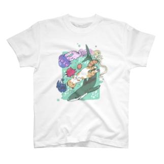 はにたんと海の仲間たち🐙🦈 T-shirts