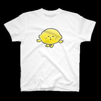 おかだひろみ の へんてこランドSHOPのレモンちゃん🍋 T-shirts