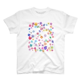 次女モッちゃんの花柄 T-shirts