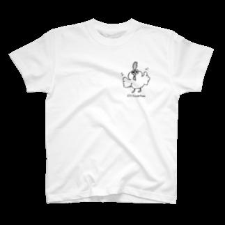 chiegohan shopのニワトリのコウちゃん T-shirts