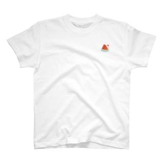 スイカに塩 T-shirts