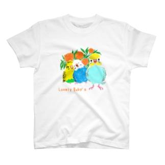 ひなだんご Baby's T-shirts