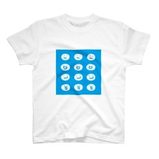 まるてん達 ブルー T-shirts
