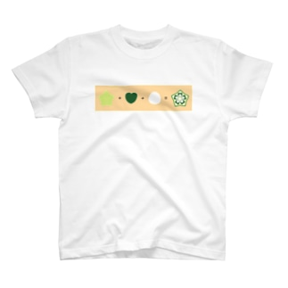 ★ + ♥ + ● = オクラ ! T-shirts
