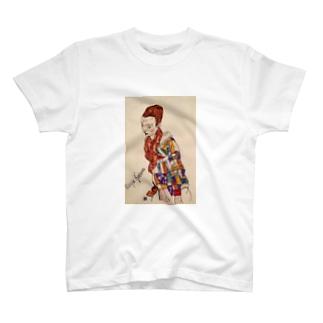 エゴン・シーレ / 1917 /Portrait of Marga Boerner / Egon Schiele T-shirts