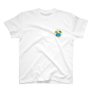 PEACHY CHERRY light blue/yellow T-shirts