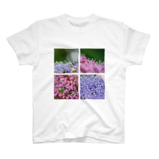 紫陽花マクロ T-shirts