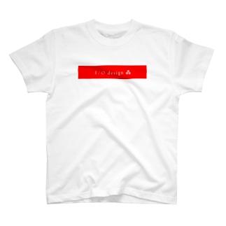 アイ・オー デザインロゴ[フラット] T-shirts