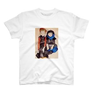 エゴン・シーレ / 1911 / Two Little Girls / Egon Schiele T-shirts
