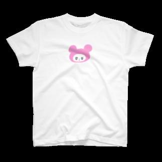 ぎゅうにゅうのくまピンク T-shirts