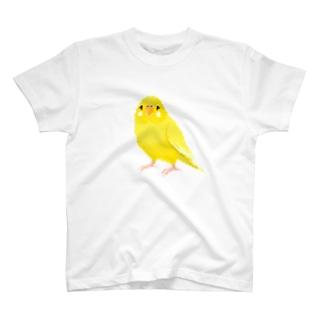ドット絵のセキセイインコ T-shirts